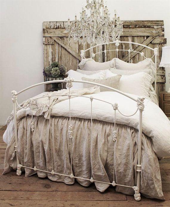 Antique Iron Bed Ot Fullbloomcottage Na Etsy Starinnye Spalni