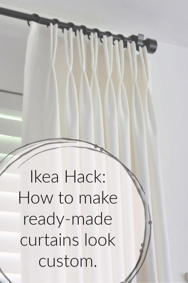How to Make Ikea Ritva Curtains Look Like Expensive Custom Made Drapes DIY