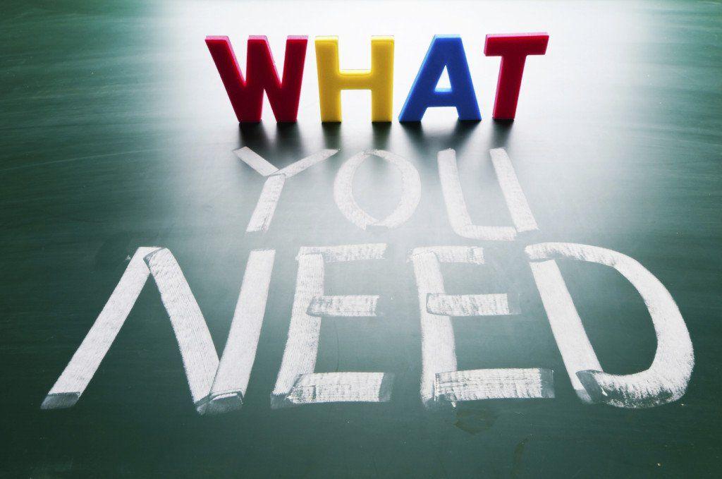 I bisogni rappresentano una situazione di squilibrio e si - needs analysis