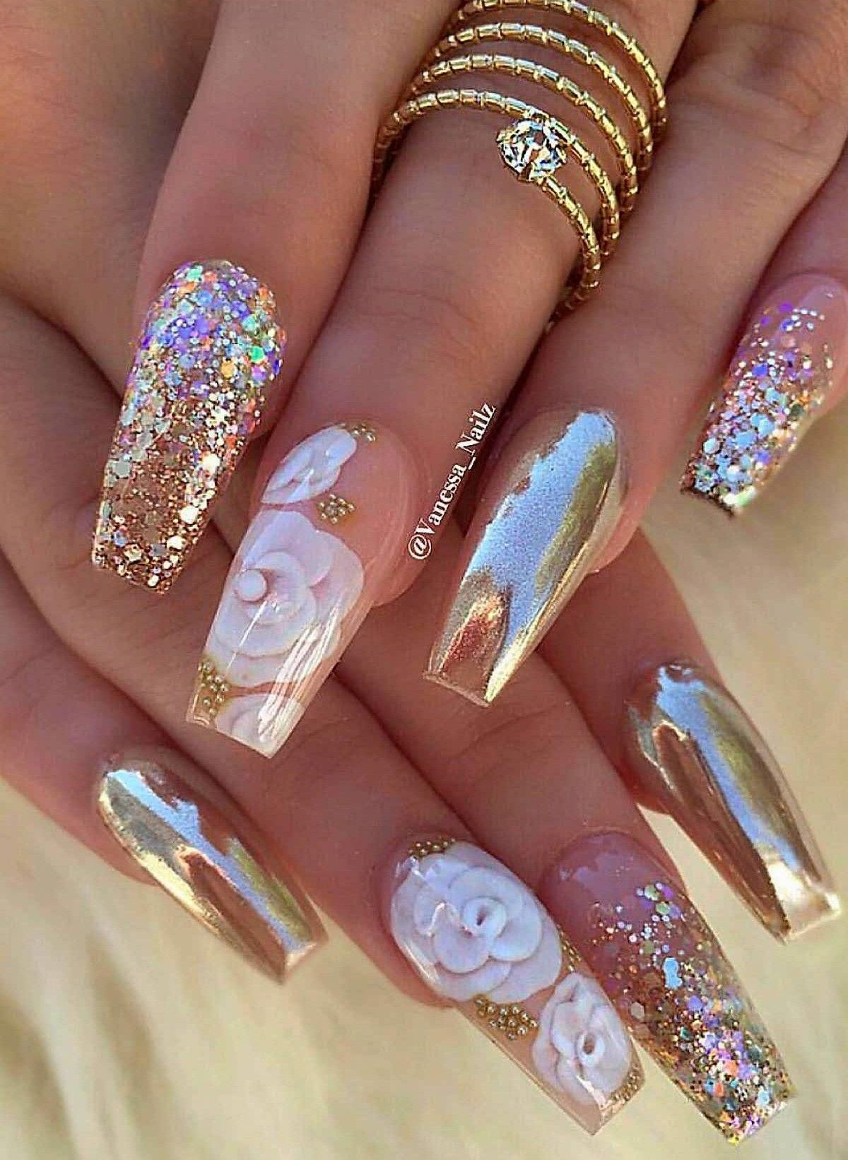 Stylish Gorgeous Glam Natural Nail Art Design Polish Manicure Gel Painting Creative Color Paint Toenails S Glam Nails Nail Designs Stylish Nails