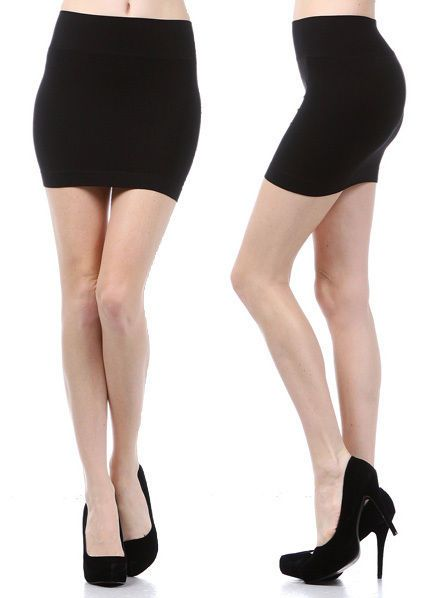 Details about MINI SKIRT Seamless Stretch Tight Short Fitted Body ...