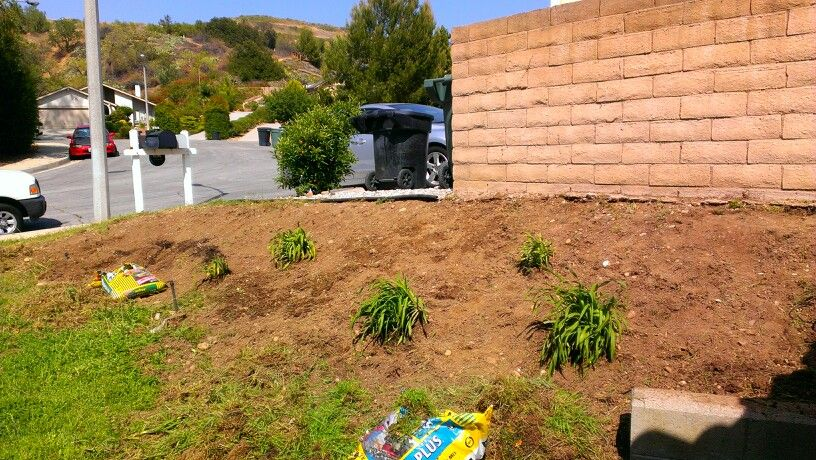 Before slope install