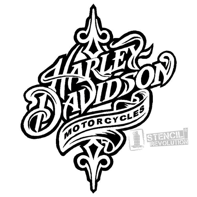 Download Your Free Harley Davidson Stencil Here Save Time And Start Project In Minutes Get Printable Stencils For Art Designs