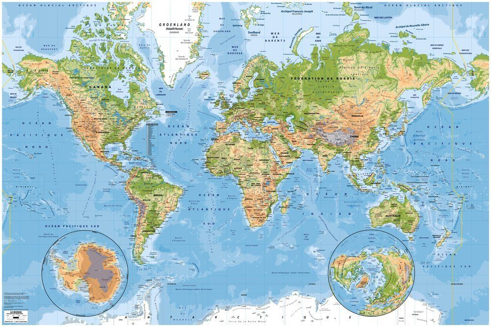 Carte Murale Du Monde Physique Et Des Oceans 3 X 2m Amazon Fr Fournitures De Bureau Carte Du Monde Murale Cartes Murales Carte Du Monde