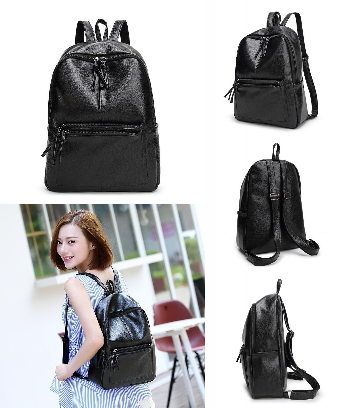 Visit to Buy] Leather Backpack Women Designer bags High Quality ...