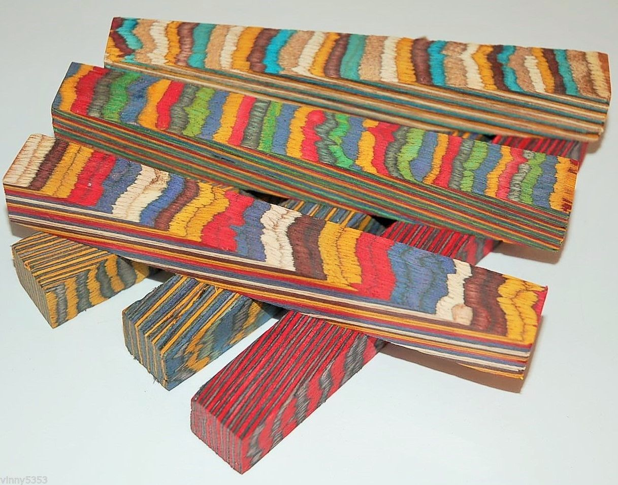 WOODTURNING COLOURGRAIN LAMINATED PEN BLANKS