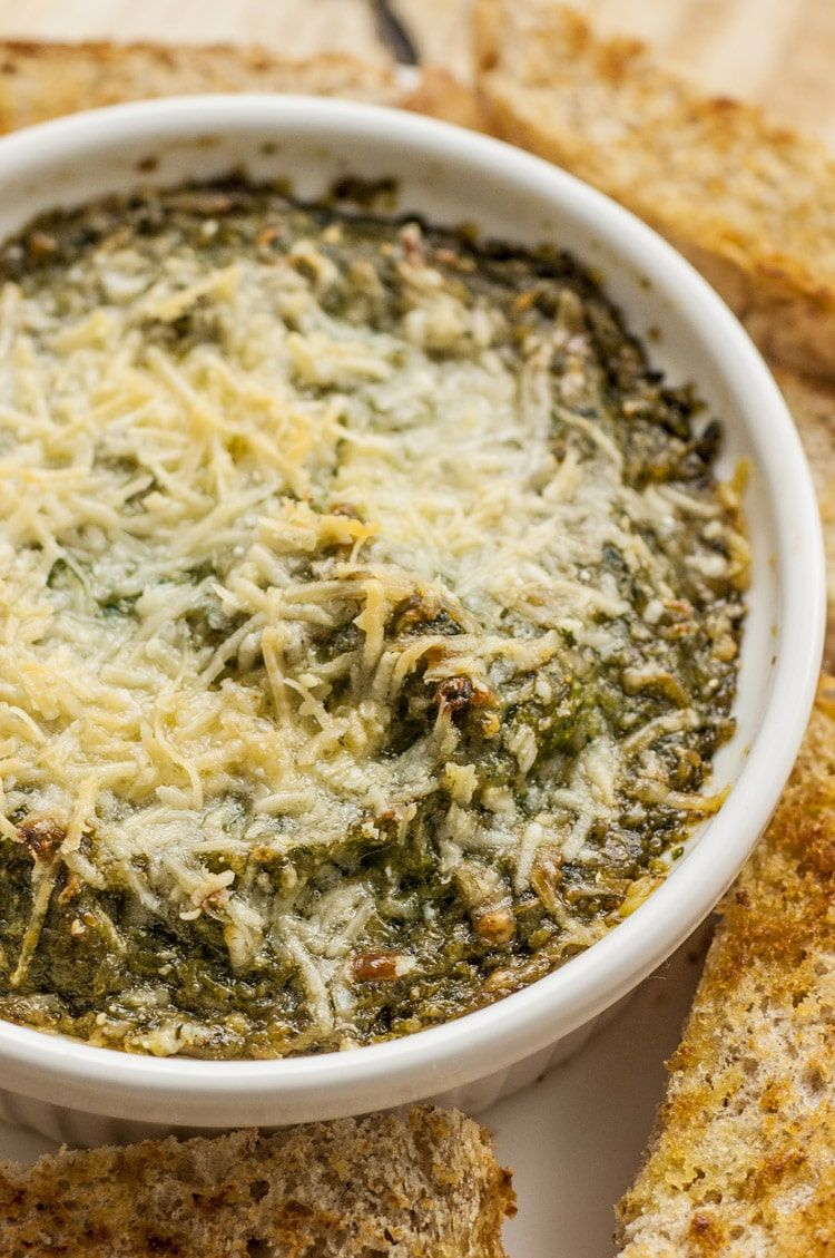 Parmesan Eggplant and Spinach Dip Healthy Dip Recipe