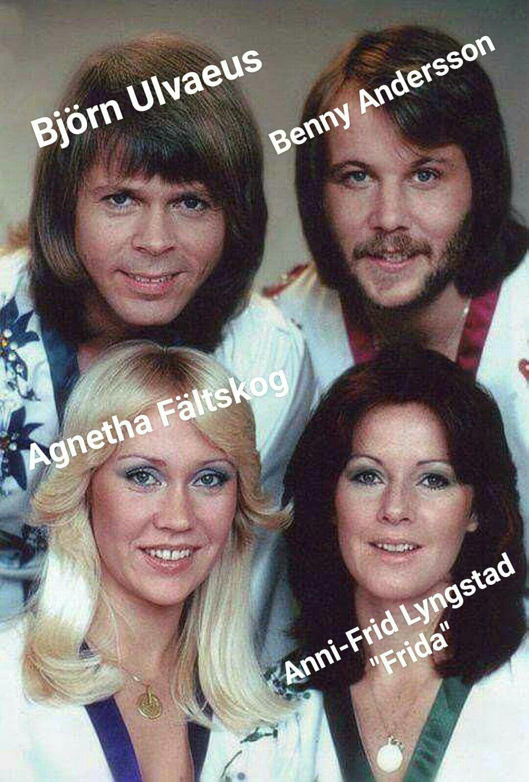 The Swedish Pop Group Abba Abba Frida Abba Musik