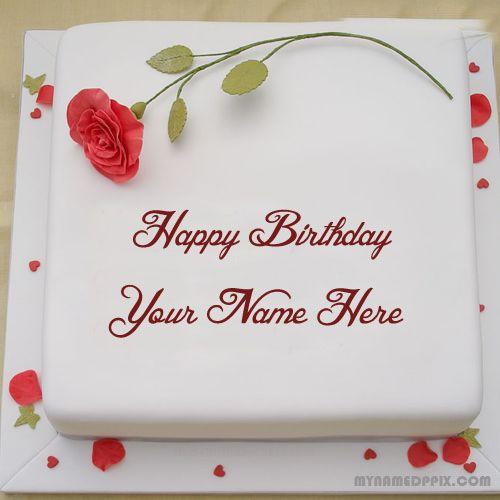 Write Lover Name Rose Birthday Cake Dp Beautiful Red Rose On