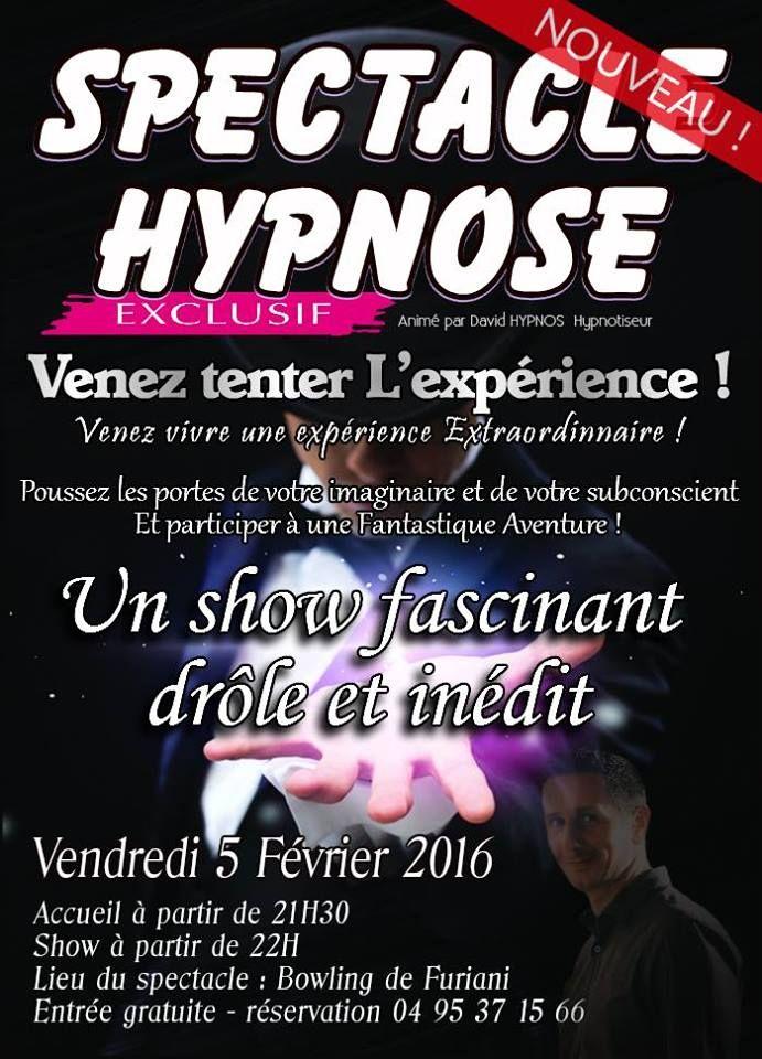 Spectacle d'hypnose au Bowling de Furiani