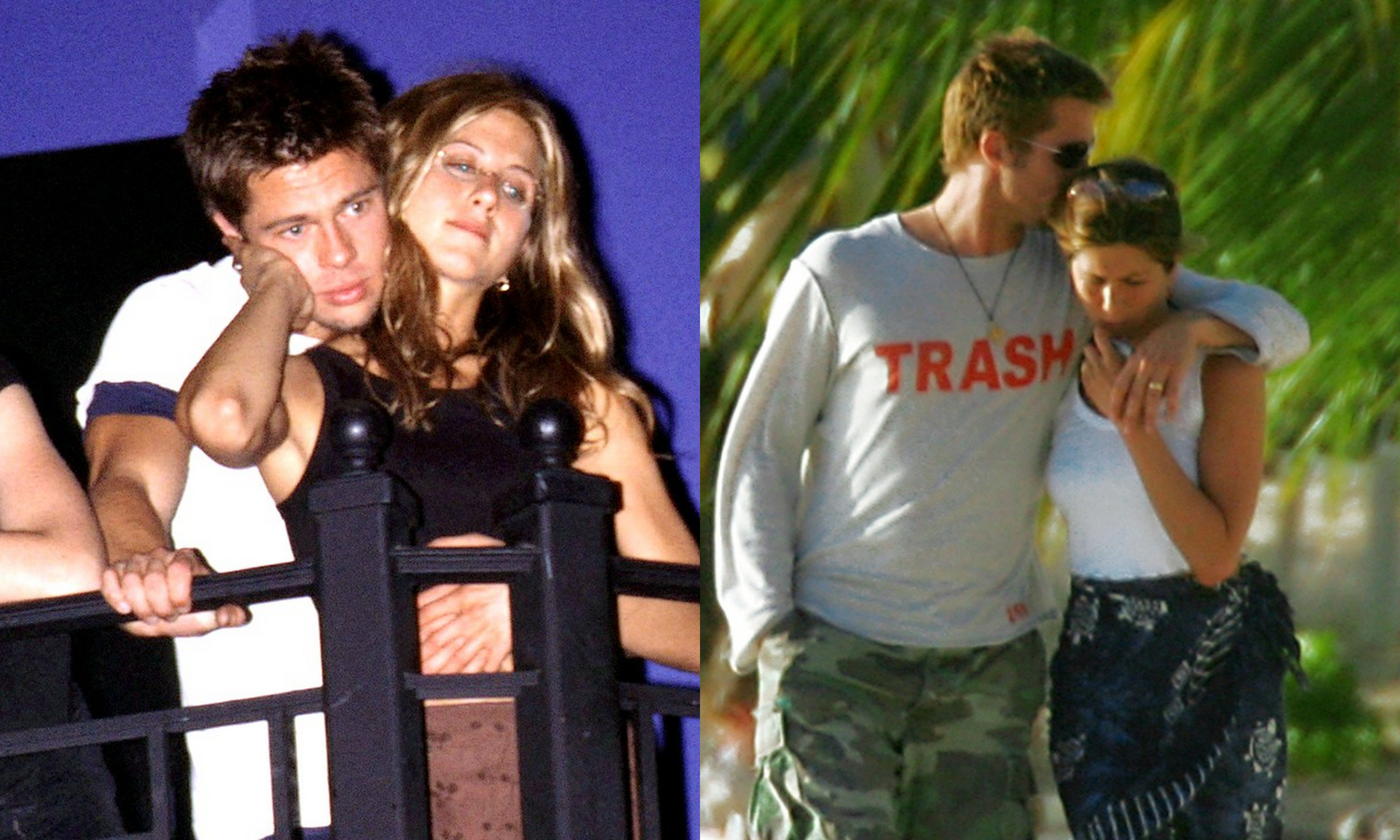 Brad Jen The First Pic May 1998 The Last Pic January 2005 Brad Pitt And Jennifer Brad Pitt Jennifer Aniston Jennifer Aniston