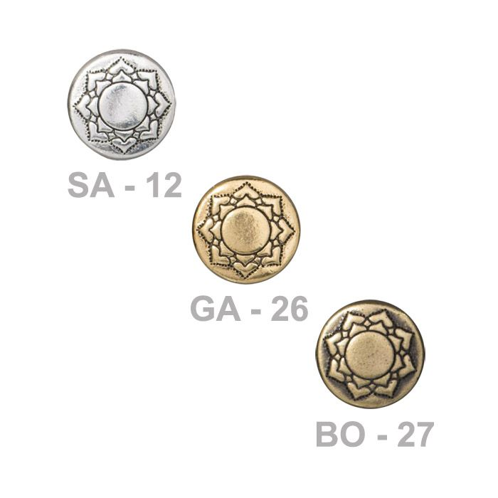 Tierracast 14mm Lotus Puffed Bead Pewter With Antiqued Finish