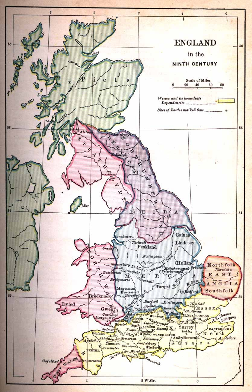 Map Of England In 9th Century.Map Of England 11th Century The Slow Pace Of The English Conquest