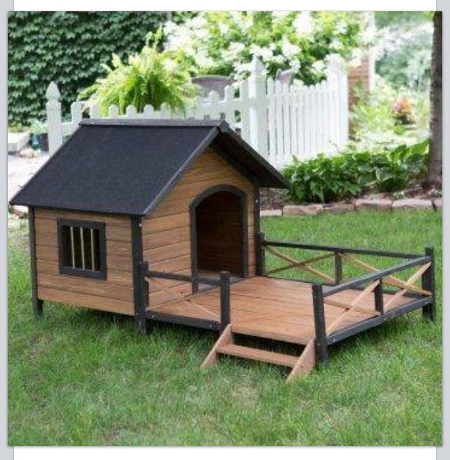 Boomer George Lodge Dog House With Porch Large Dog House