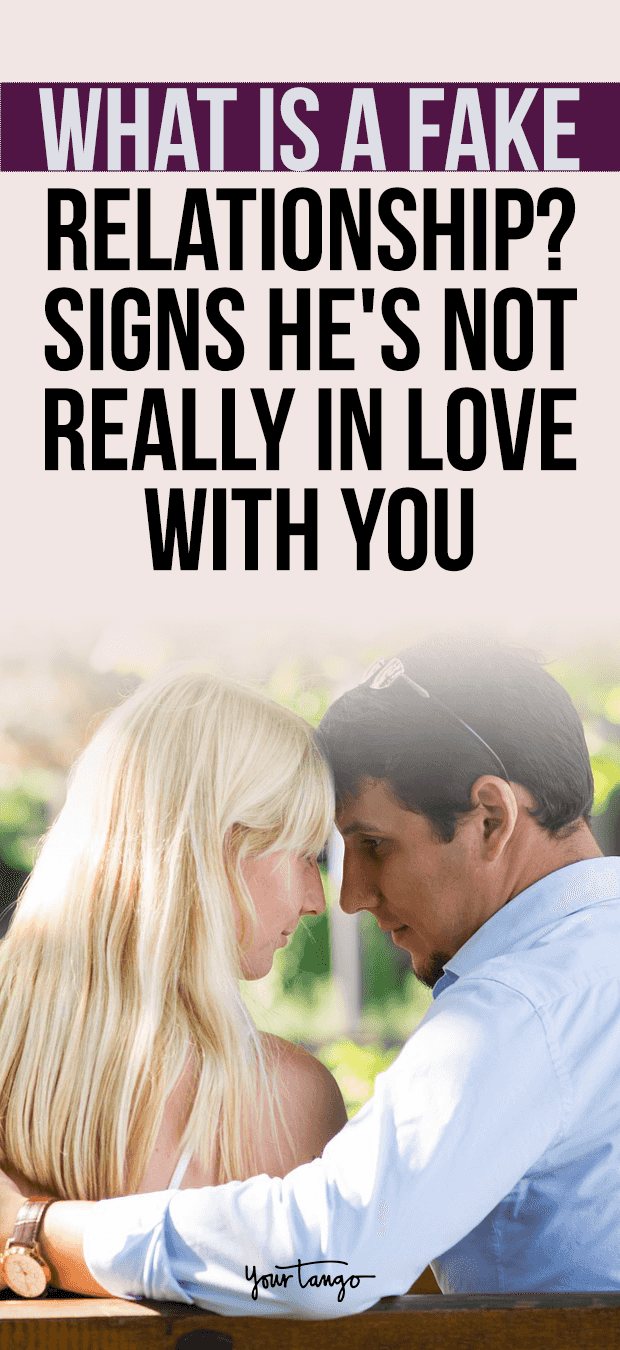 6 Subtle Signs Hes Faking His Love For You | Fake