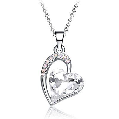 #Trending04 - Clear Crystal Heart Necklace Pendant White Gold Plated Valentines Day Gift https://t.co/jvBgtVoksw Eb https://t.co/ojpL8z3vk0