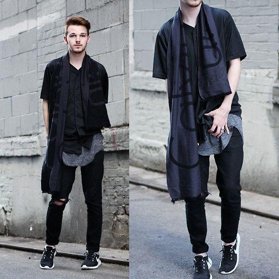 new concept efec9 da57c Drew Scott - Calvin Klein Ck Scarf, Pacsun Mesh Baseball Tee, Urban  Outfitters Long Tee, Topman Black Denim, Nike Roshe Runs - Hit the Streets