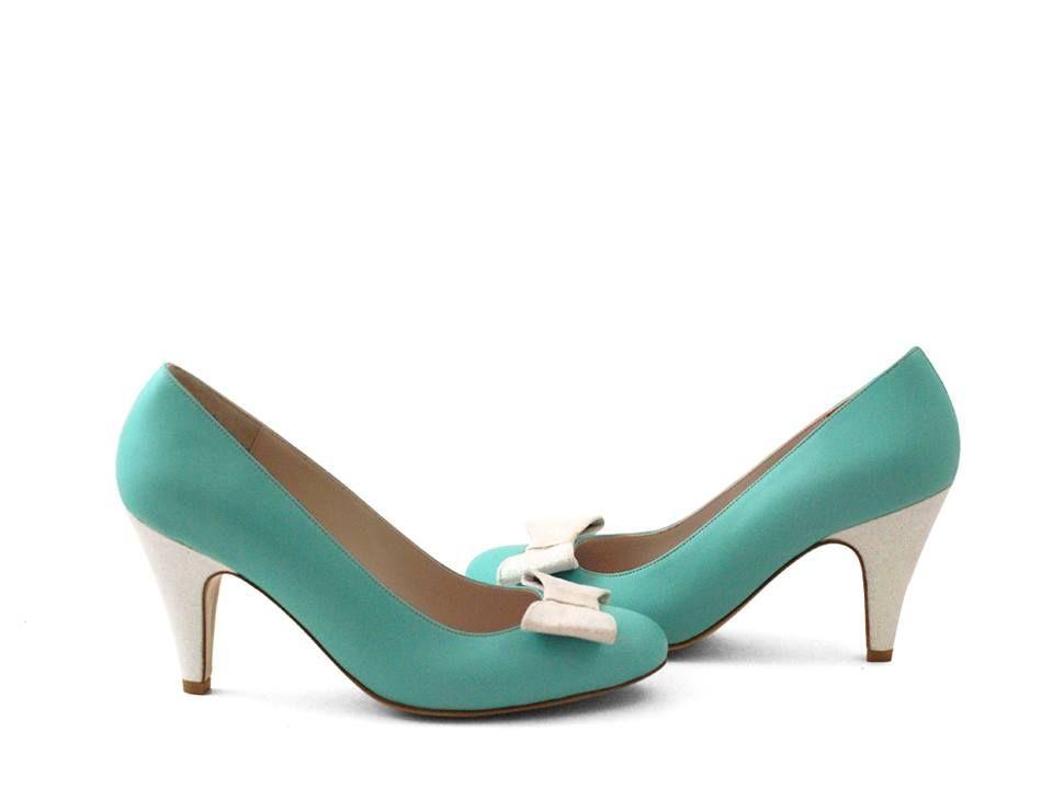 style femme chaussure Escarpin cuir vert