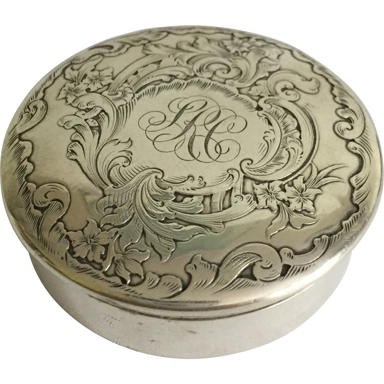 Sterling Silver English Box from annecharles on Ruby Lane