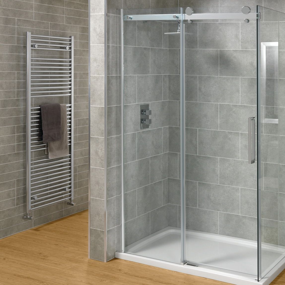 Contemporary and cool Sliding Glass Shower Doors Frameless With Open ...