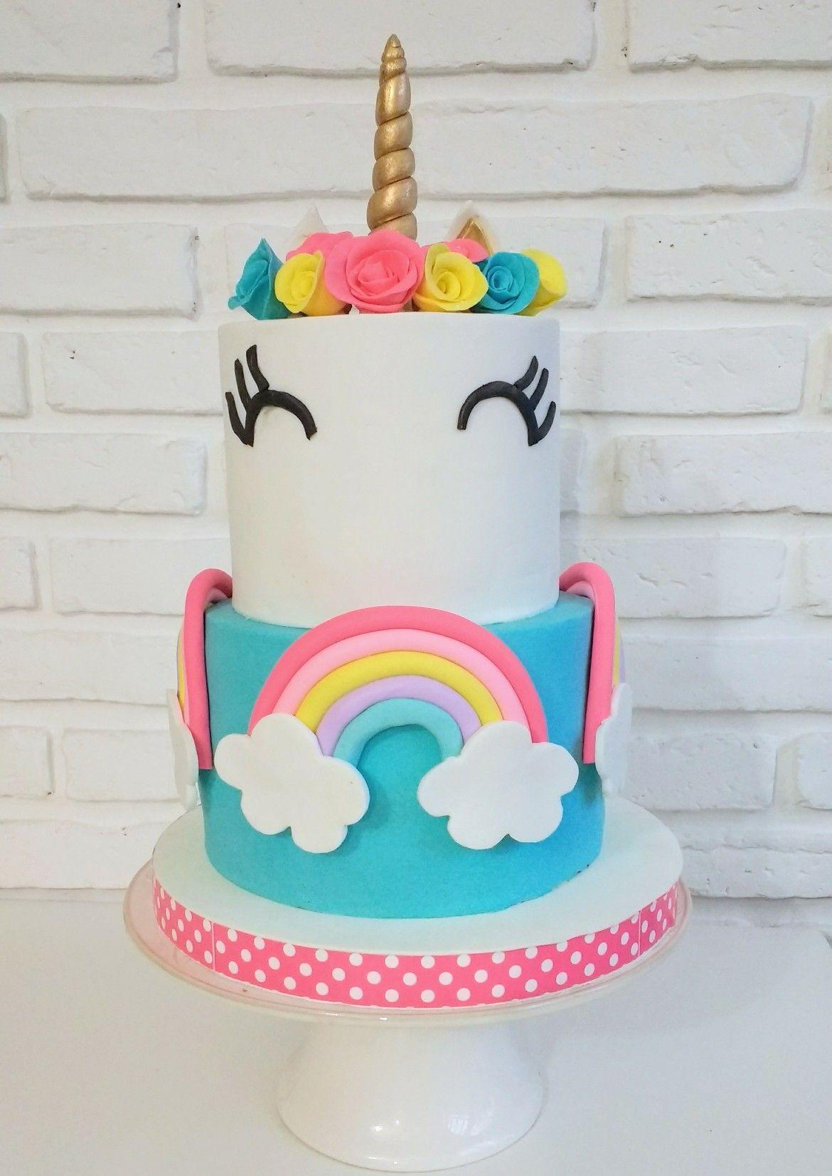 Rainbow Unicorn Unicorn Cake Tortas Cumpleanos Infantiles
