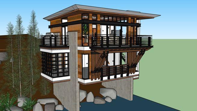 Дом на берегу   Дом, Проекты и Дерево