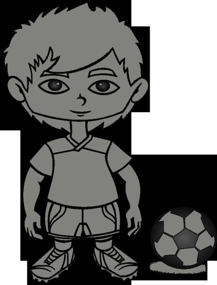 Kostenlose Malvorlage: Junge spielt Fußball - ausmalen | Malbuch ...
