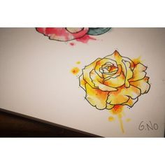 Image Result For Yellow Rose And Cardinal Watercolor Tattoo Just