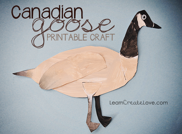 Canadian Goose Printable Craft From Learncreatelove Com