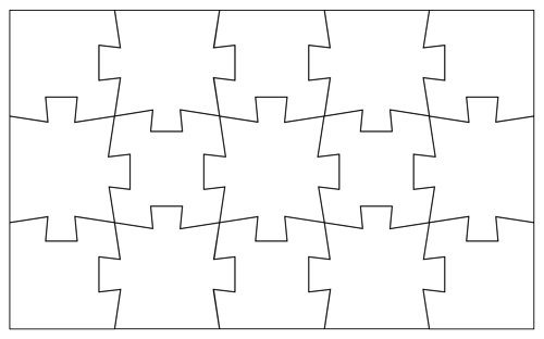 Blank Jigsaw Puzzle Template