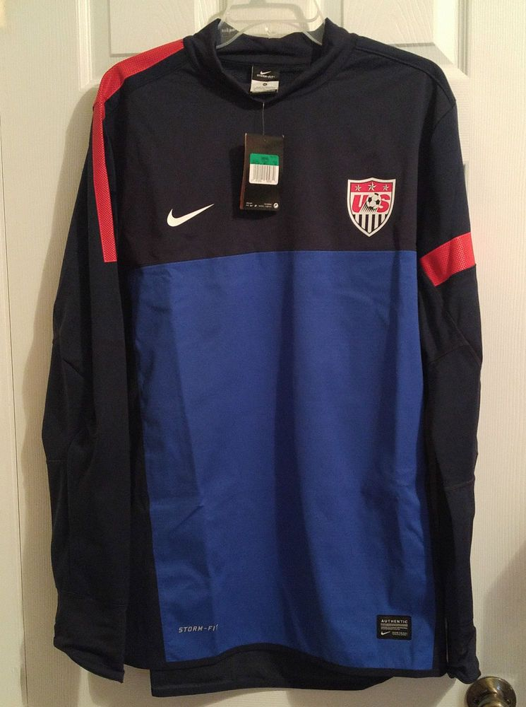 c5d9be87b51a NEW Nike USA Soccer National Team Storm-Fit Pullover Jacket Mens XL 527773  Blue  Nike  USA