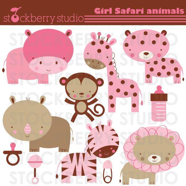 pink safari baby shower ideas baby safari animals