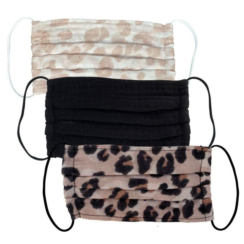 Photo of Cotton Face Mask 3pc Set – Leopard