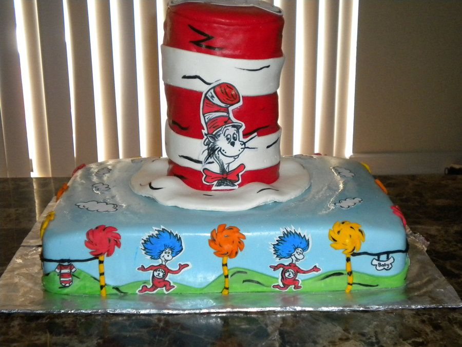 Dr seuss baby shower cakes dr seuss baby shower cake