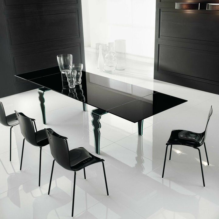 All Glass Contemporary Dining Table With Hidden Extensions Stunning Dining Room Table Toronto