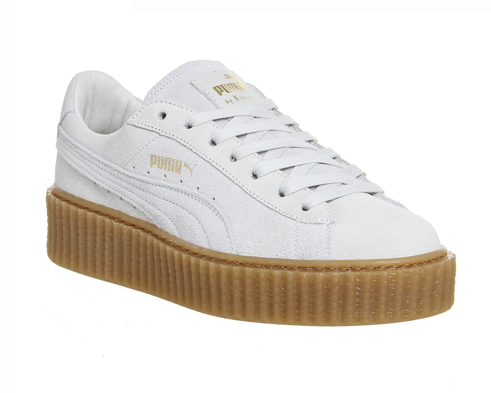 puma suede creepers rihanna star white oatmeal. Black Bedroom Furniture Sets. Home Design Ideas