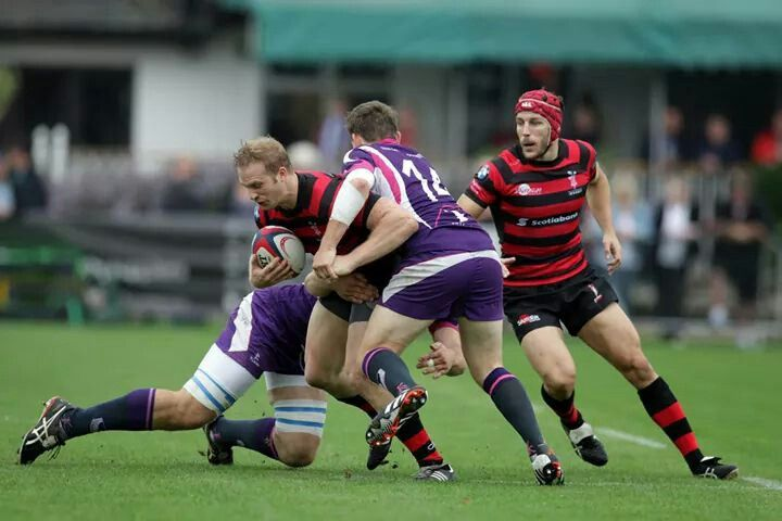 Blackheath vs Loughborough 2014- richie in red headgear