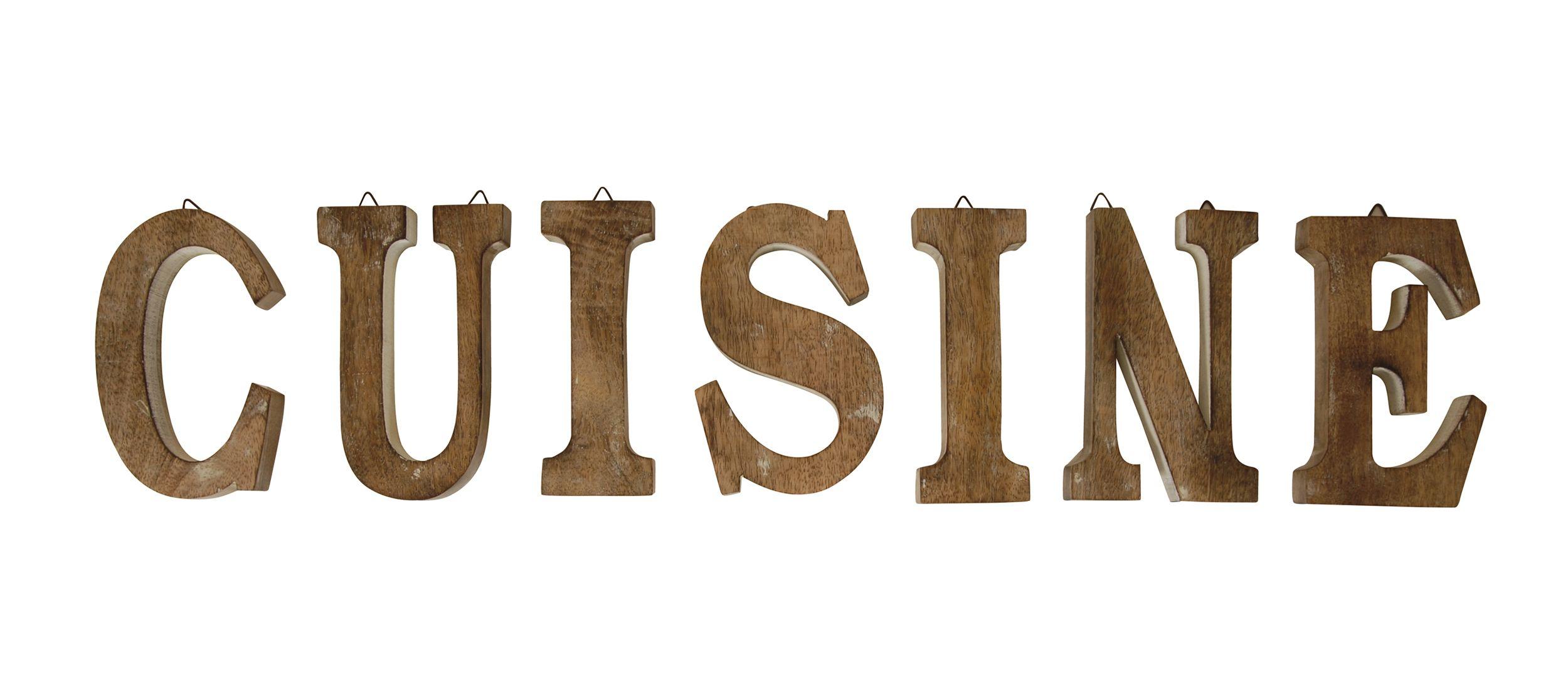 Les mots font la déco ! Grandes lettres en bois pour agrémenter