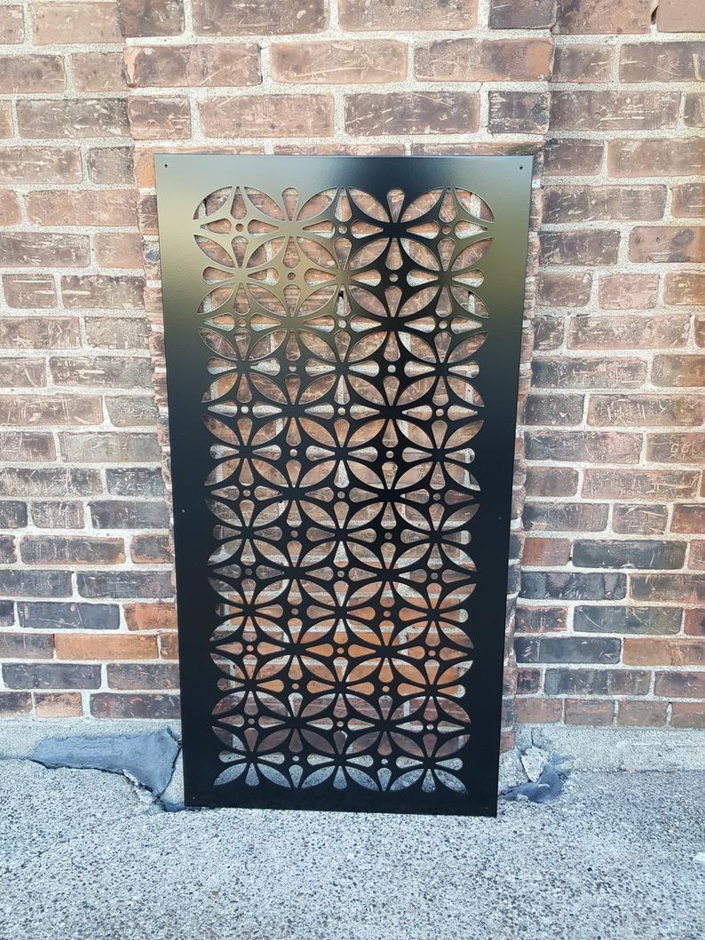HIDDENFLOWER9 Metal Privacy Screen Decorative Panel Garden  Etsy