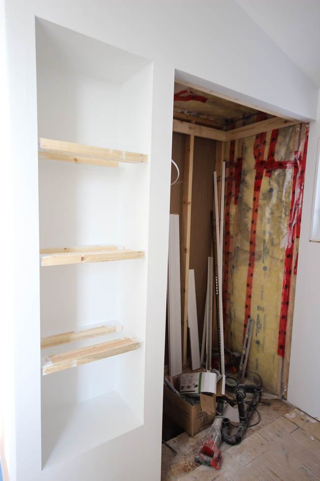 How to Make Your Own Built In Shelving