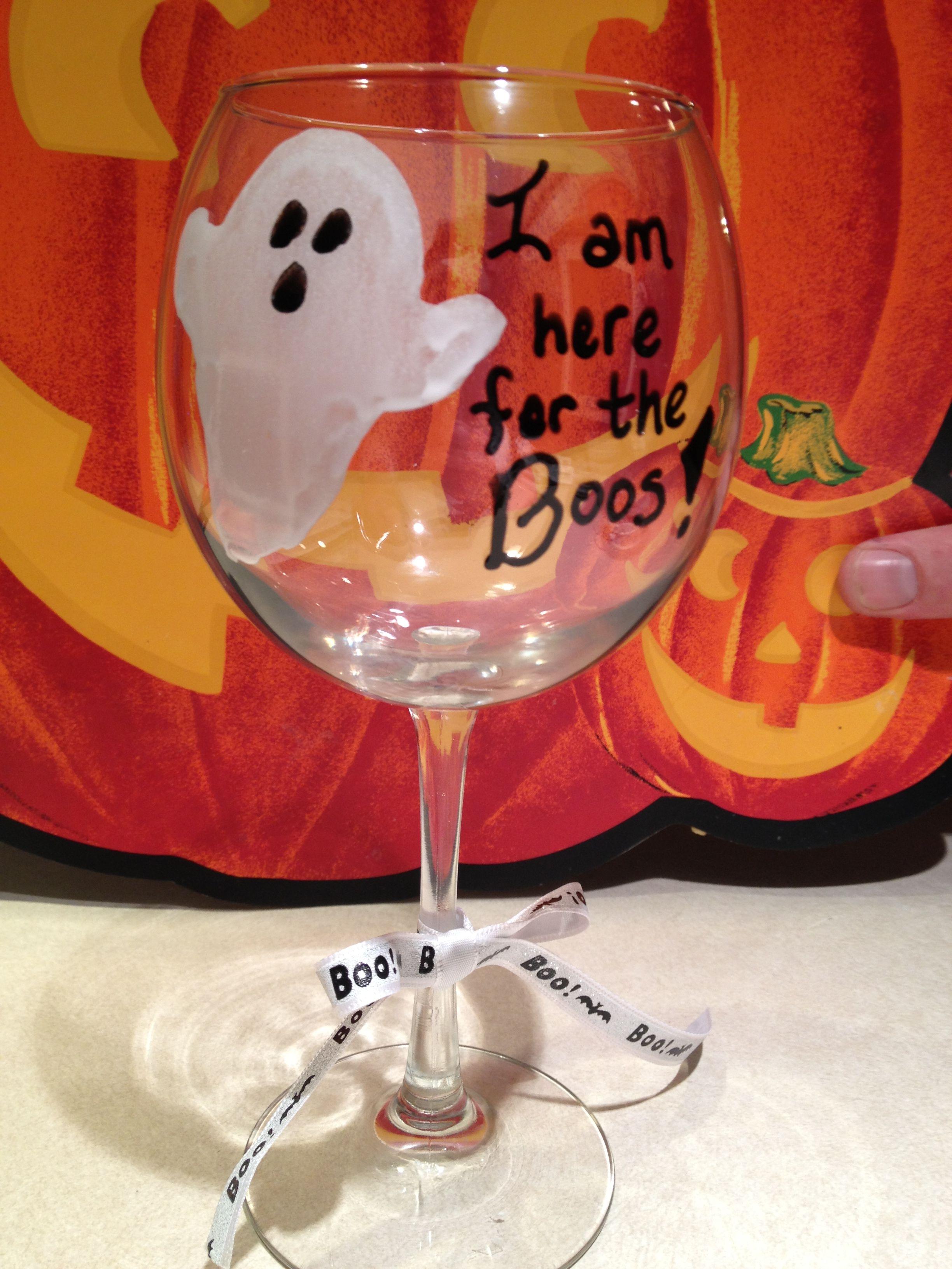 Halloween wine glasses!! wine Halloween wine glasses