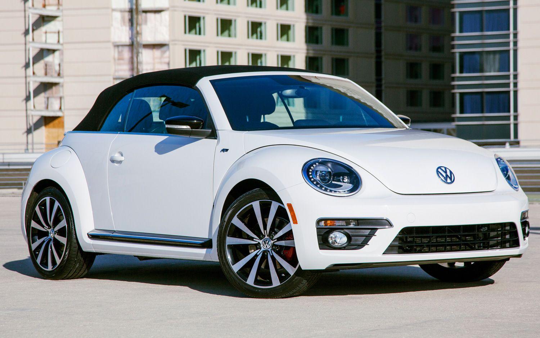 White 2014 Volkswagen Beetle Convertible Wallpaper Free