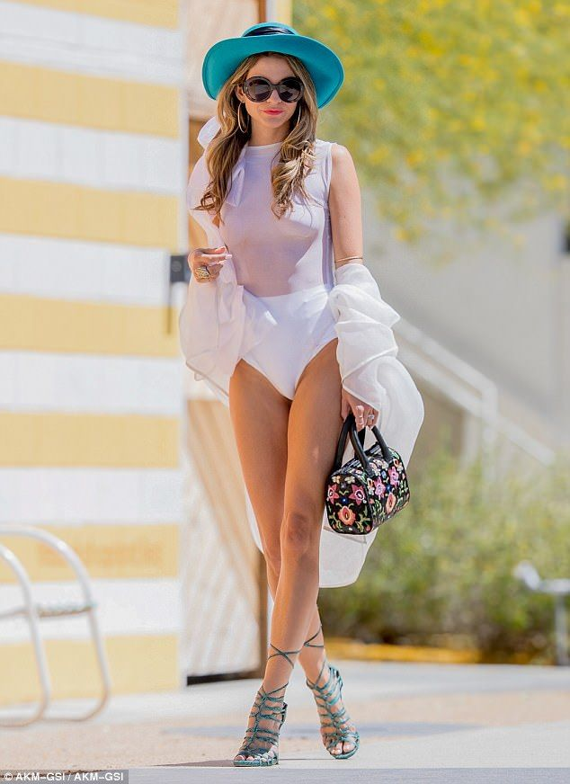 4365aeb4fce61 Rachel McCord flaunted her endless lean pins at the Coachella Valley Music  And Arts Festival in Indio
