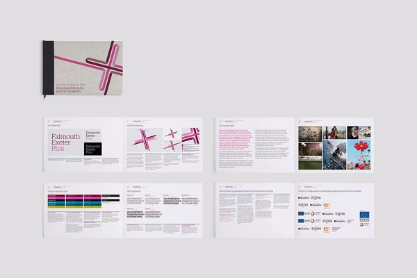 Falmouth Exeter Plus Visual Identity And Guidelines By Believe In Brand Guidelines Design Exeter Corporate Interior Design