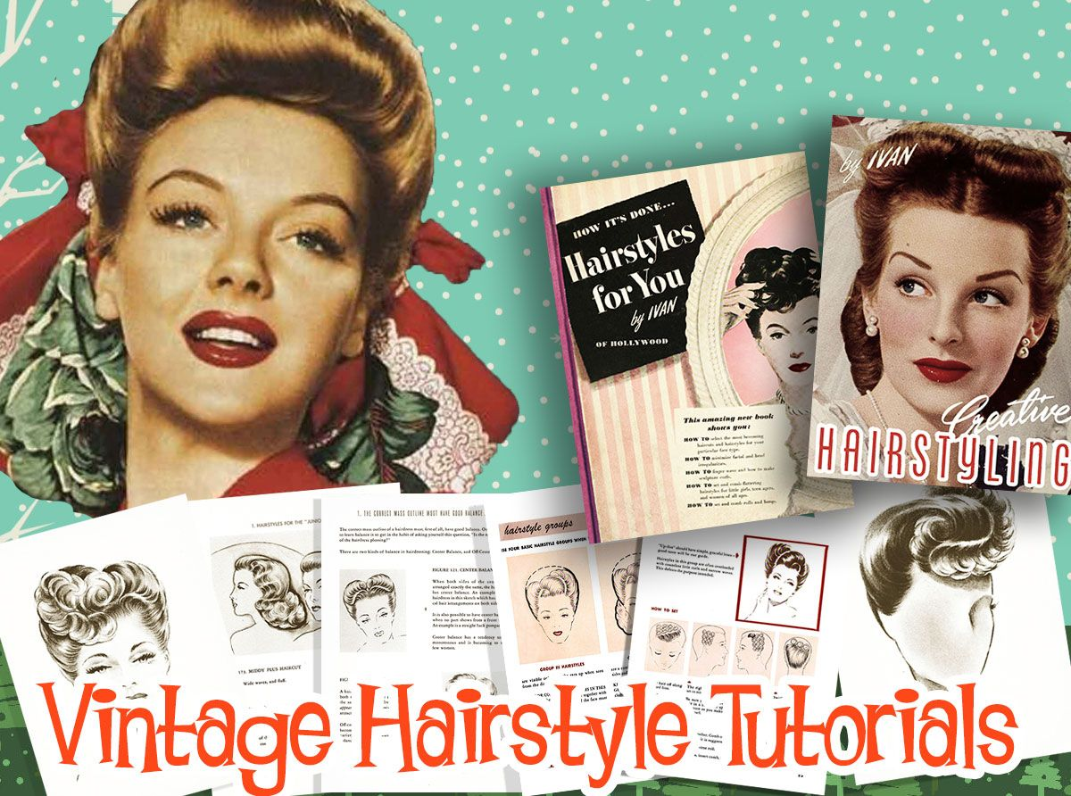 1940s vintage hairstyle tutorial books | hairstyles