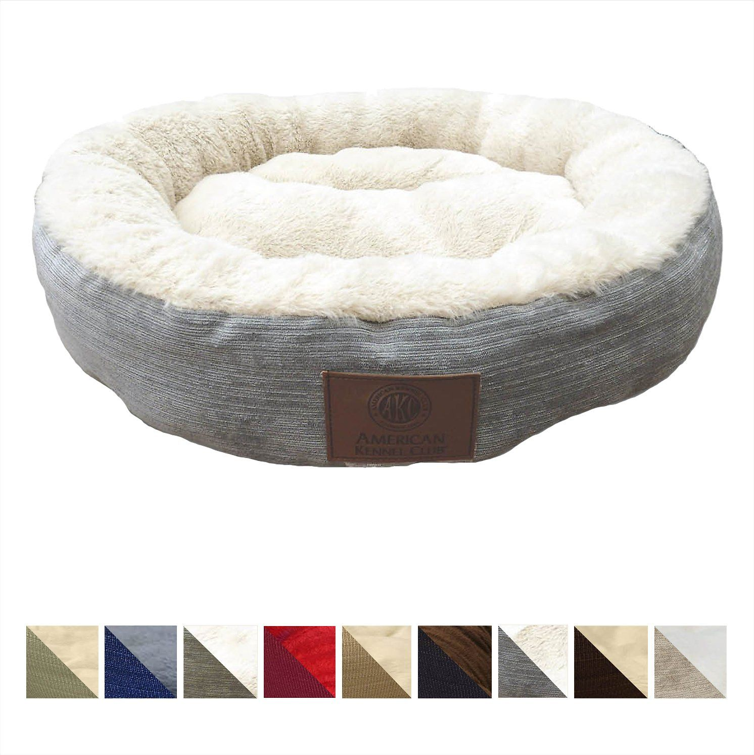 American Kennel Club Casablanca Round Pet Bed Blue Chewy Com