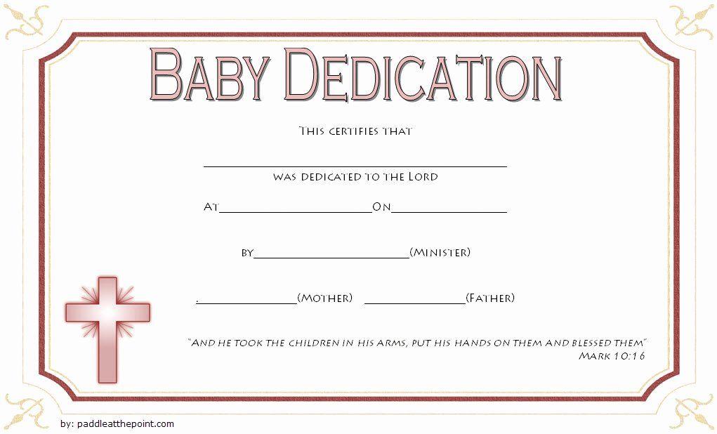 Child Dedication Certificate Templates Beautiful 7 Free Printable