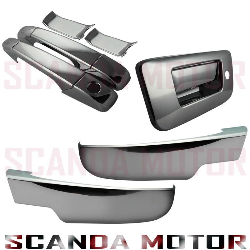 07 13 Silverado Sierra Chrome Door Handle Chrome Mirror Cover Lower Tailgate Ebay Chrome Door Handles Door Handles Chrome Mirror