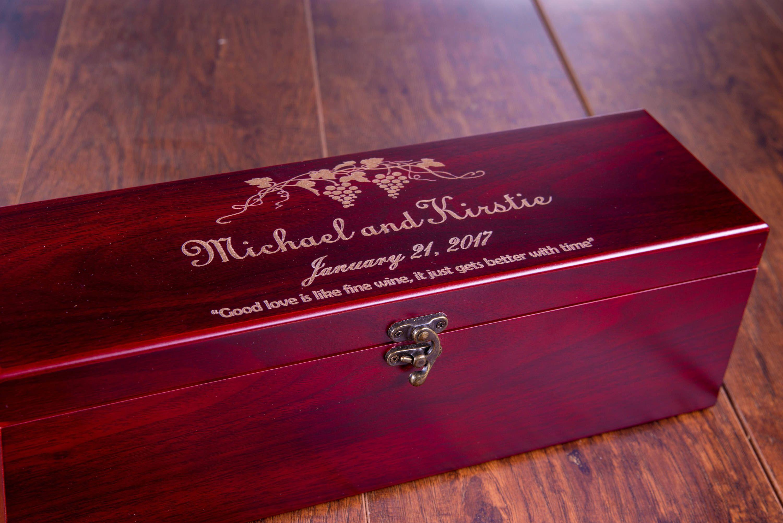 Wedding Wine Box Ceremony Wine Gift Wine Cork Wine Glass Personalized Box Wedding Box First Fight Box Wine Gift Boxes Wine Box Ceremony Wine Box Wedding