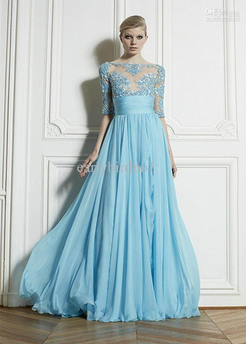 Vestidos de fiesta new fashion zuhair murad evening modest prom